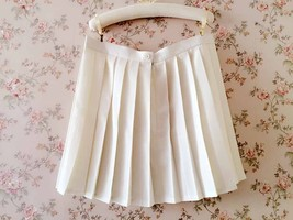 White Pleated Skirts Campus Style Pleated Skirt Girls School Skirts Plus Size image 3