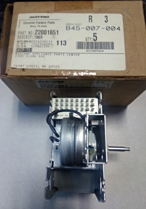 Maytag Genuine Factory Part #22001651 Timer - $105.00