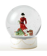 Royal Doulton Christmas Gifts Snow Globe HN5524 Pretty Ladies Limited Ne... - $89.90