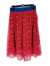 LuLaRoe Women's Red Pink Layered Lace Flare Lola Skirt Size Small NEW - $24.75