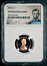 1995 S LINCOLN PENNY 1¢ Coin NGC PF69 RD Red ULTRA CAMEO Cent SKU# C85 image 2