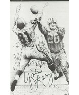 Yale Lary Signed Hall of Fame Postcard Lions - $24.74
