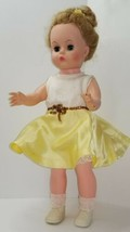 "Vintage Character Girl Doll 16"" Marked U11 Plastic Vinyl Doll  - $18.95"