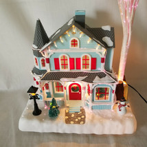 AVON Holiday Splender Lighted Fiber Optic House with Light Up Trees and ... - $39.59