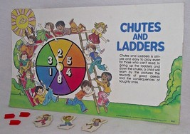 Chutes Ladders Replacement Board Game 3 Playing Pieces Spinner 1979 Wall... - $12.86