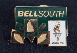Bell South Advertising Atlanta 1996 Olympic Pin Pinback Green Yellow - $25.34