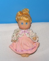 1994 CITITOY 5 IN. DOLL BLOND PONYTAIL PINK DRESS BLUE EYES - $10.40