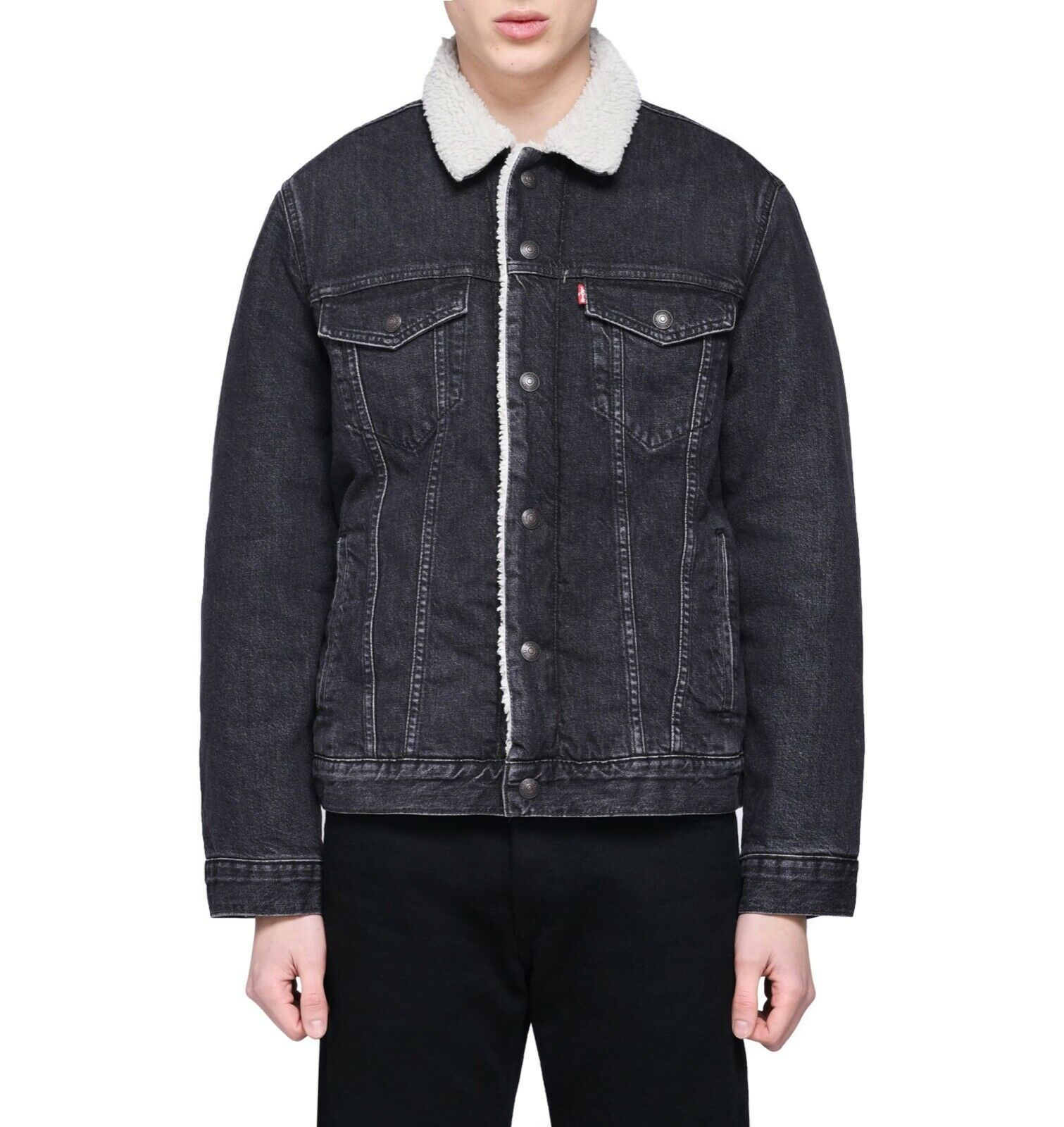 Levi's Strauss Men's Cotton Sherpa Lined Denim Jean Trucker Jacket 163650097