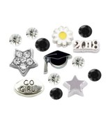 Graduate Graduation 2018 Cap Star 14pc Floating Charms for Floating Lock... - $8.06