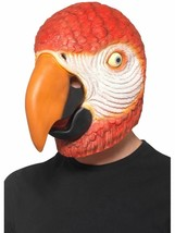 Parrot Latex Mask Red Overhead, Party Animals Fancy Dress, One Size #CA - $26.43