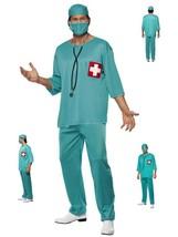 "Men's Surgeon Scrubs Fancy Dress Costume Tunic Trousers Cap & Mask Medium 38-40"" - $22.77"