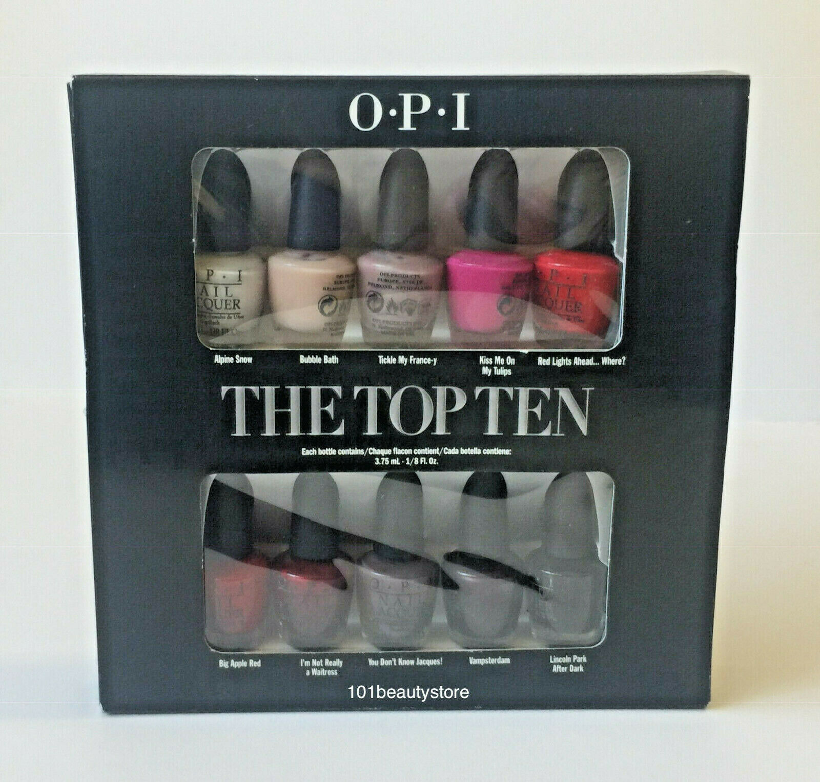 Primary image for OPI The Top Ten Collection 3.75ML Each *NEW*
