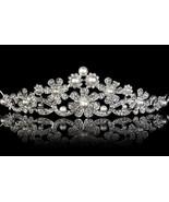 Royal Wedding Victorian Insp 5.22Ct Rose Cut Diamond 925 Silver Tiara Cr... - $699.19