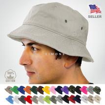 Bucket Hat Cap Cotton Fishing Boonie Brim visor Sun Safari Summer Men Ca... - $19.80