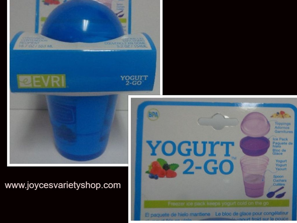 Primary image for Everi Yogurt 2 Go Travel Container NWT BPA Free 3 Compartments Blue 18.7 oz