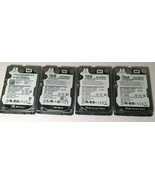"""Lot of 4 WD 750GB 2.5"""" SATA Laptop Hard Drive Western Digital 7200 - $98.95"""