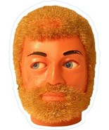 Action Man head shaped vinyl sticker  retro 1970s toys GI Joe 150mm x 107mm - $4.37
