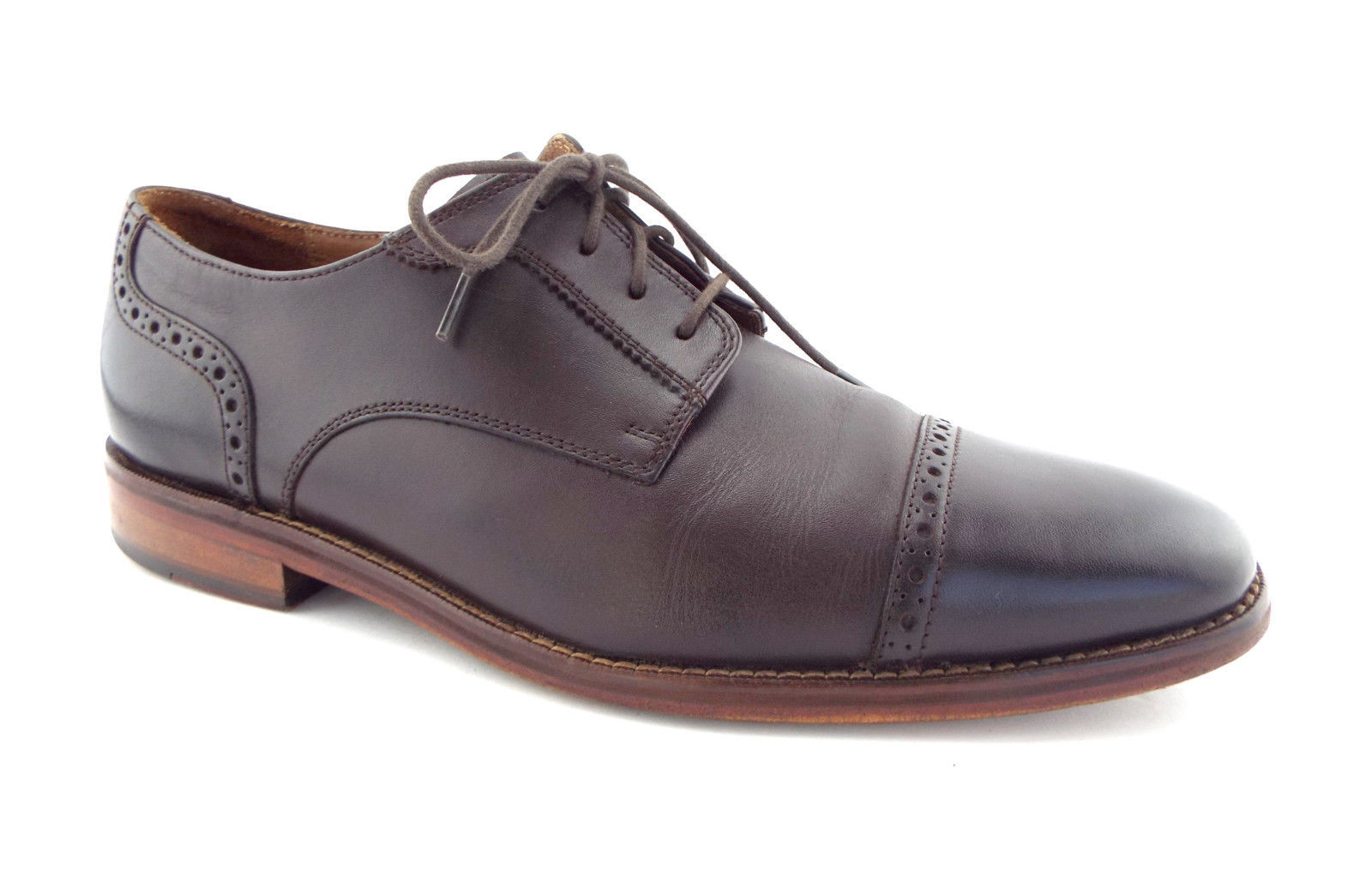 COLE HAAN Size 9.5 Brown Leather Cap Toe Oxfords Shoes 9 1/2 - $74.00