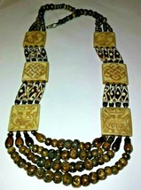 """BOLD CHUNKY BROWN BEAD NECKLACE  22"""" - $18.55"""