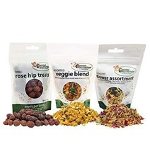 Exotic Nutrition Herbivore Treats (3 Pack) - for Guinea Pigs, Rabbits, H... - $16.99