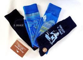 TOMMY BAHAMA Men's CASUAL CREW Socks 4 Pairs Blue OSFM - New! - $20.95
