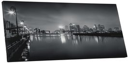 "Pingo World 0721Q5UTX7A ""Boston Black and White Skyline Panoramic"" Galle... - $158.35"