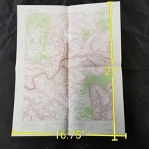 Vintage 1962 USGS Kanab Point Arizona Topographic Map - $17.50