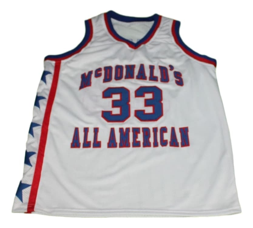 Shaquille O'Neal #33 McDonalds All American New Basketball Jersey White Any Size