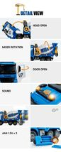 Yoowon Toys Concrete Cement Mixer Truck Car Vehicle Sound Effect Lights Play Toy image 3