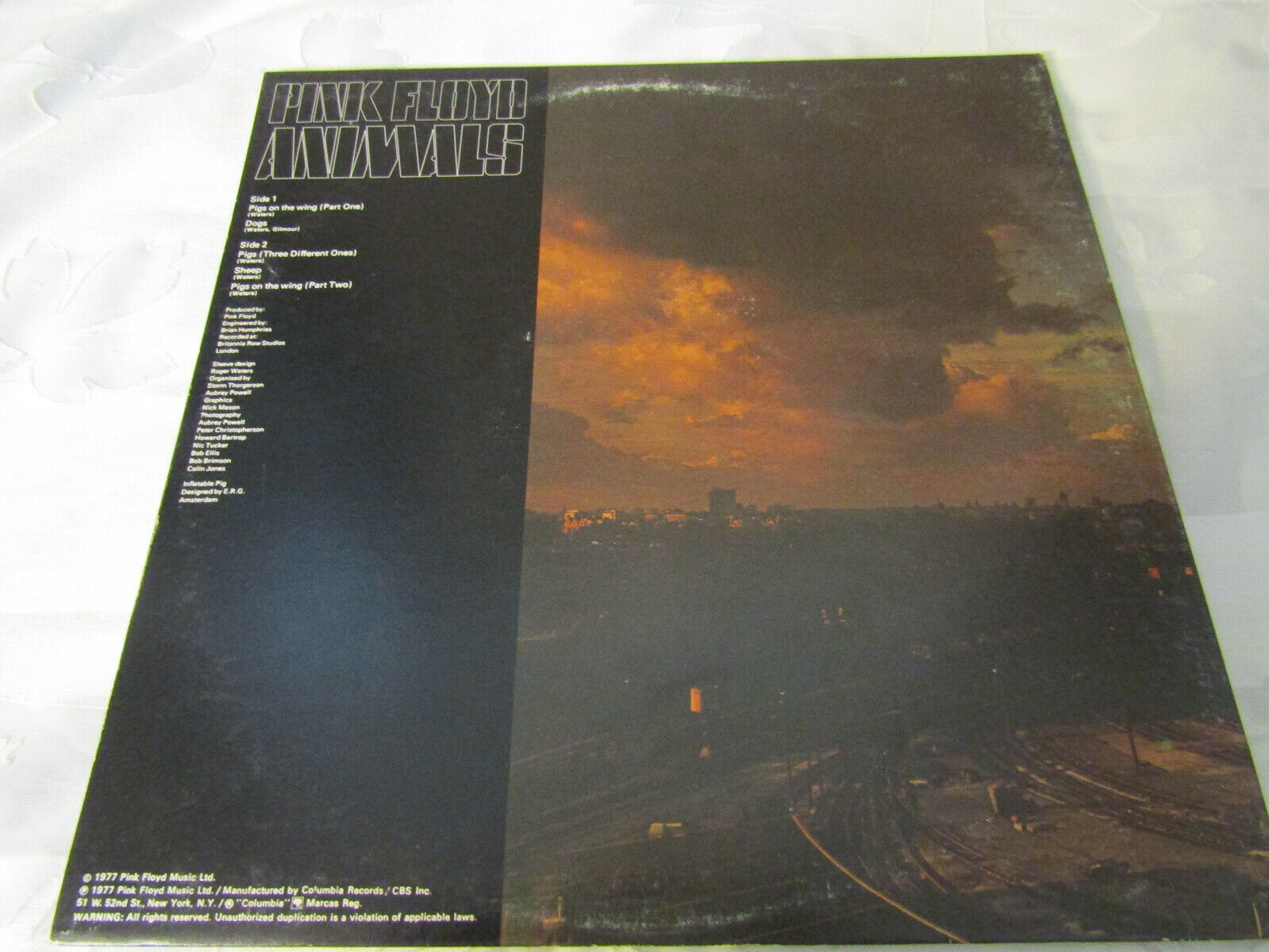 Pink Floyd Animals Columbia JC 34474 Stereo Record LP image 3