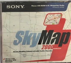 Sony SkyMap 2000 CD ROM Software US Mapping Suite WIN 95/98 Street-TESTE... - $14.73