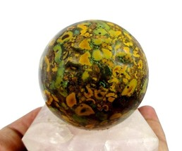 Natural A+ Quality 60MM Fossil Coral Jasper Crystal Gemstone Healing Sph... - $36.63