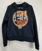 NFL Team Apparel Women's Size Medium Navy Blue Broncos Hoodie Sweatshirt - $21.22