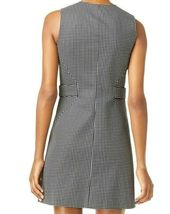 Michael Kors Black White Checked Front Snap Button Mini Dress Size 14 NEW $195 image 3