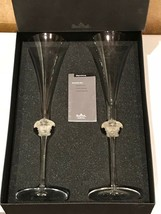 Versace by Rosenthal Glass 2 Champagne Medusa Lumiere NEW - $400.95