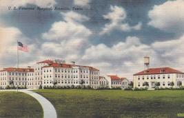 Amarillo Texas TX Linen Veterans Hospital Postcard Colourpicture - $3.34