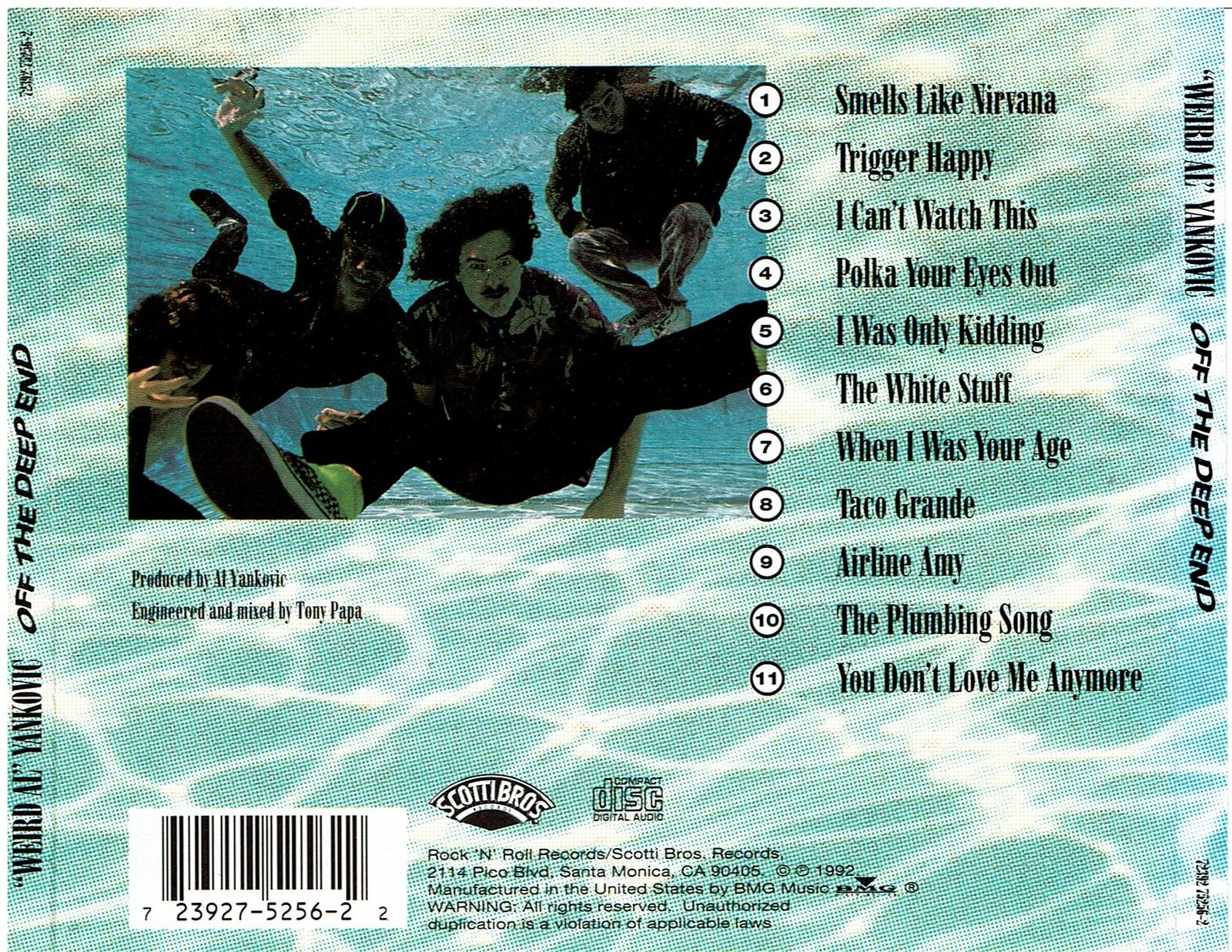 Weird Al Yankovic: Off The Deep End. (Audio Music CD 2011)
