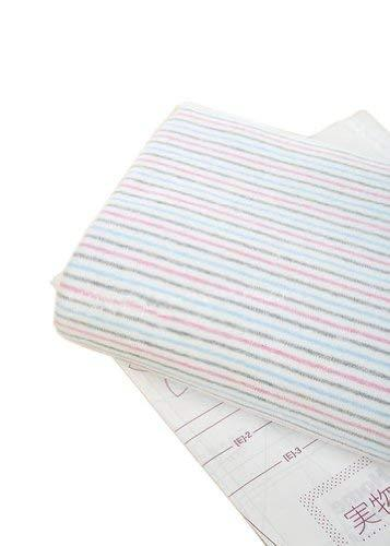 65'' Wide Handworked Baby's Fabric Striped Cotton Fabric 17.565 Inches (A)