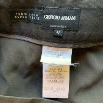 Giorgio Armani Women's Size 40 / Small Brown 100% Wool Dress Pant Trousers Italy image 4