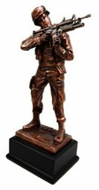 "Military Decor US Marine Soldier Aiming With Rifle Statue 11.5""Tall With... - $49.99"