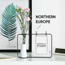 Nordic Style Aesthetic Notes Rack with Ceramic Vase / Japanese Ceramic V... - $16.99