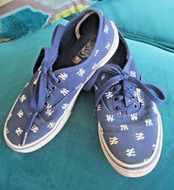 GUC VANS Youth 3 Boys Girls Unisex New York Yankees skateboard shoes - $14.25