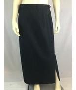 Ralph Lauren Blue Label Skirt 12 Long Wool Black Pinstripe Lined Side Sl... - $78.21