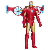 Classic Marvel Titan Superhero Toy Series Iron Man W/ Hover Pack For Kid... - $30.08