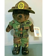 US Army Drill Instructor Vintage Bear Force Of America With Tags - $19.73