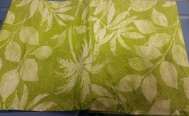 "Flannel Back Vinyl Tablecloth 52"" X 70"" (4-6 Ppl) Leaves On Green By Ap - $15.83"