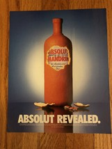 Absolut Revealed Original Magazine Ad - $2.49