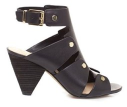 Women's Shoes Vince Camuto EKERD Sandals Cone Heels Studs Leather Black - $71.99
