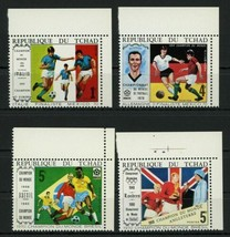 Soccer Sport Cup Mexico 1970 Serie Set of 4 Stamps Mint NH - $21.40