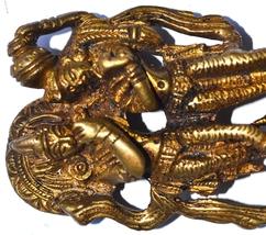Brass Made Statue Of Radha Krishna - $9.00